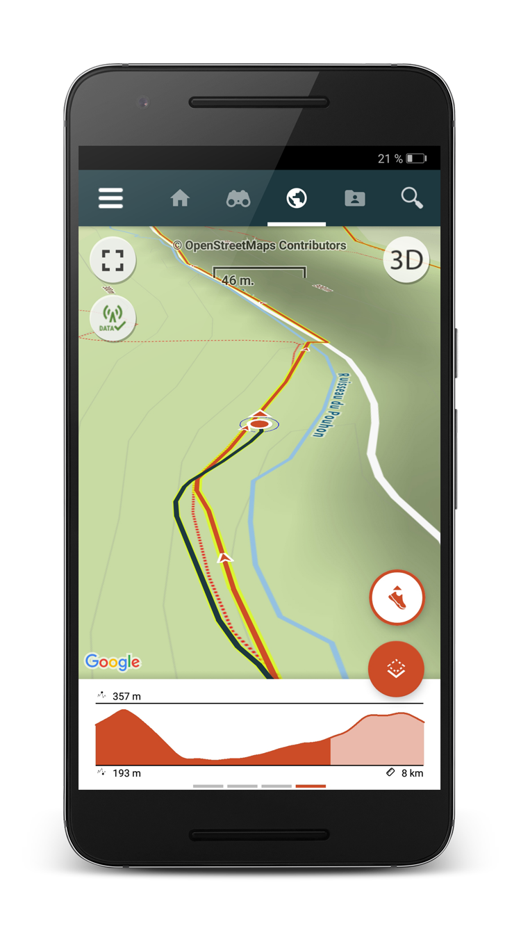 GPS app for hiking, trail and biking with offline IGN topo ...